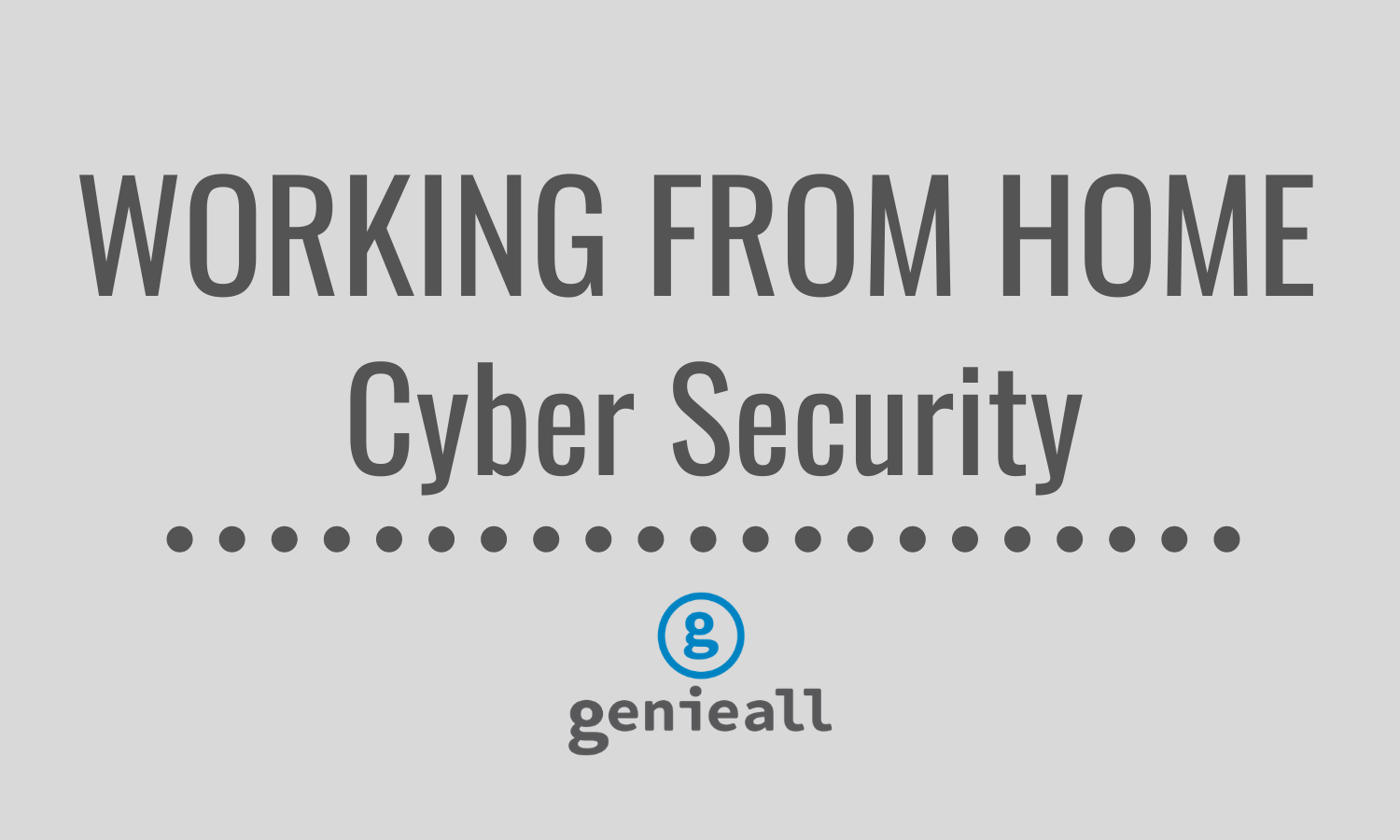 working from home cyber security